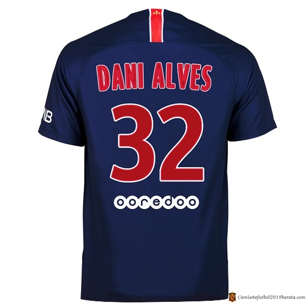 Camiseta Paris Saint Germain Replica Primera Dani Alves 2018/2019 Azul